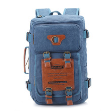 New style large capacity travel casual fashion man's canvas backpack laptop rucksack