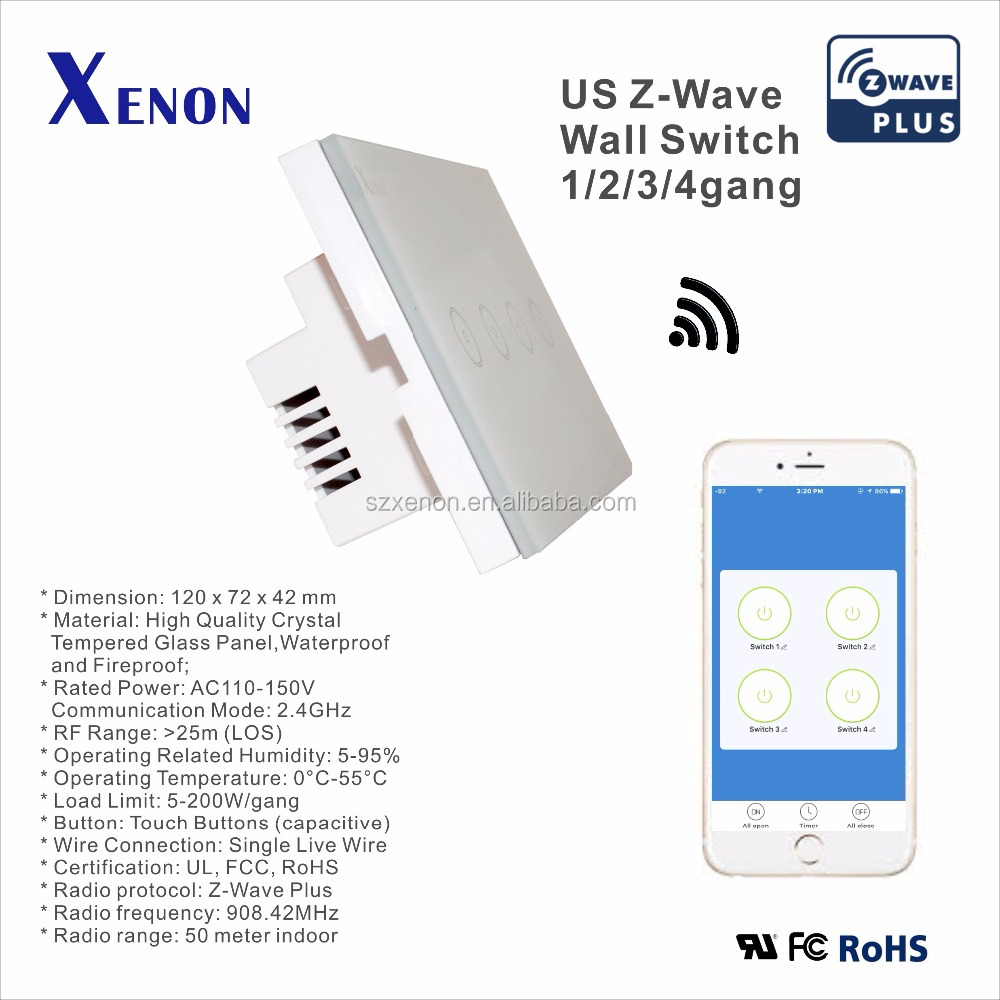 xenon zwave wall switch light switch socket touch screen controller box light plug relay smart home us soft buy led home lightsmart home controller