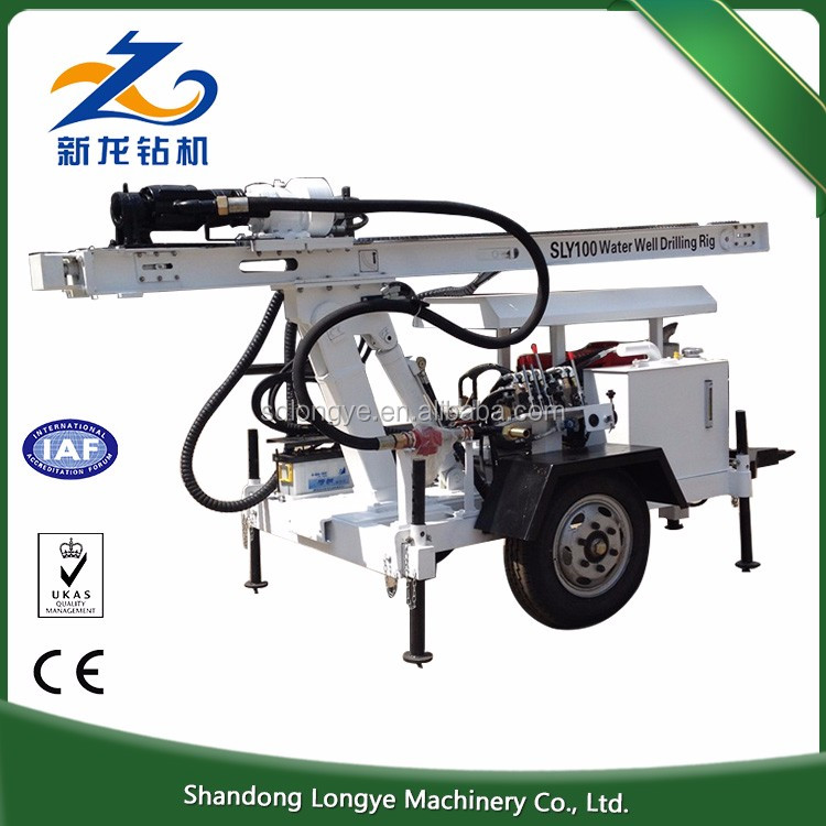 High quality 120m Depth SLY100 portable water well drilling rig, water well rig drilling machine portable
