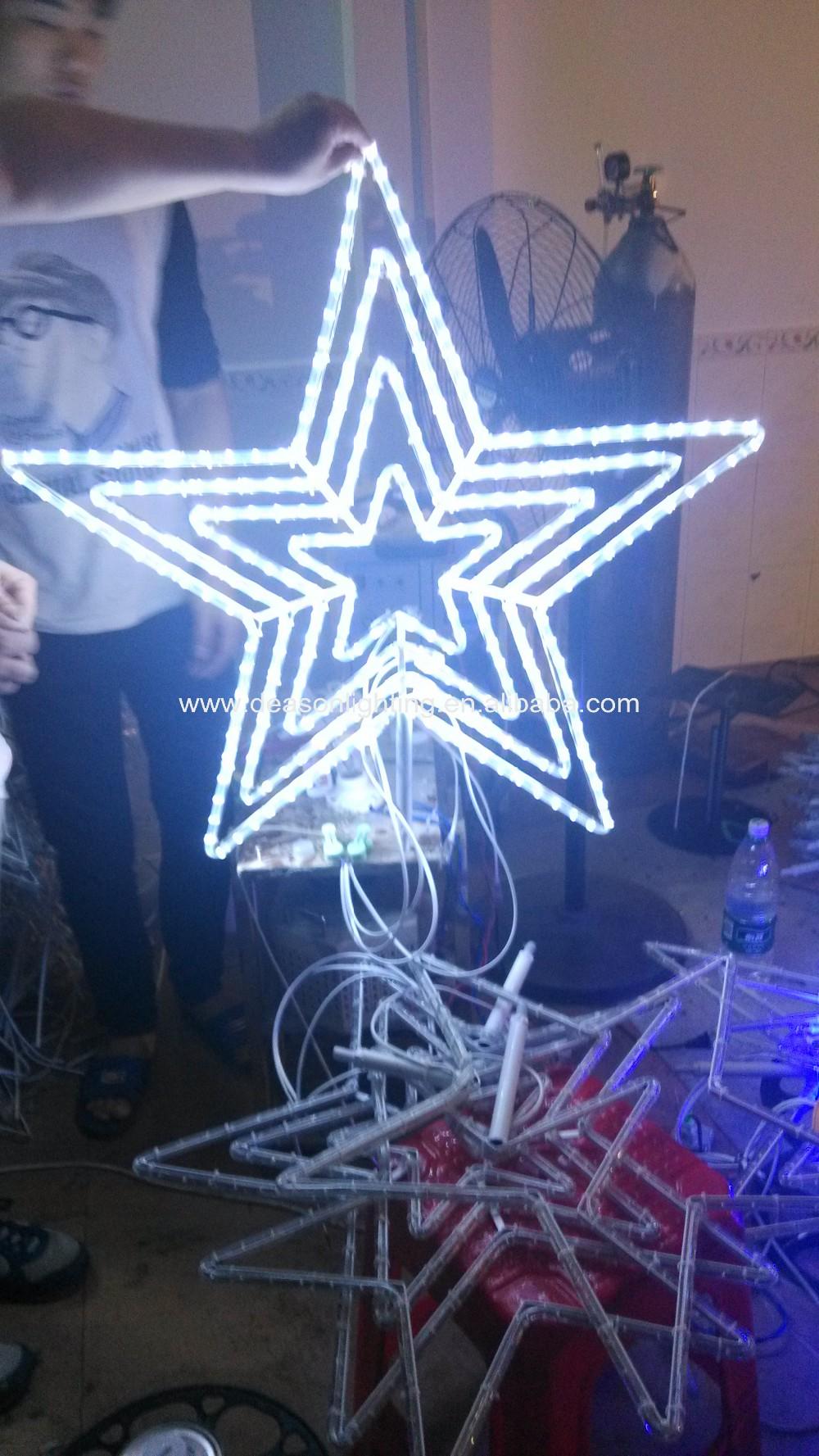 Festive Star Blue / White Led Christmas Mains Voltage Flashing ...