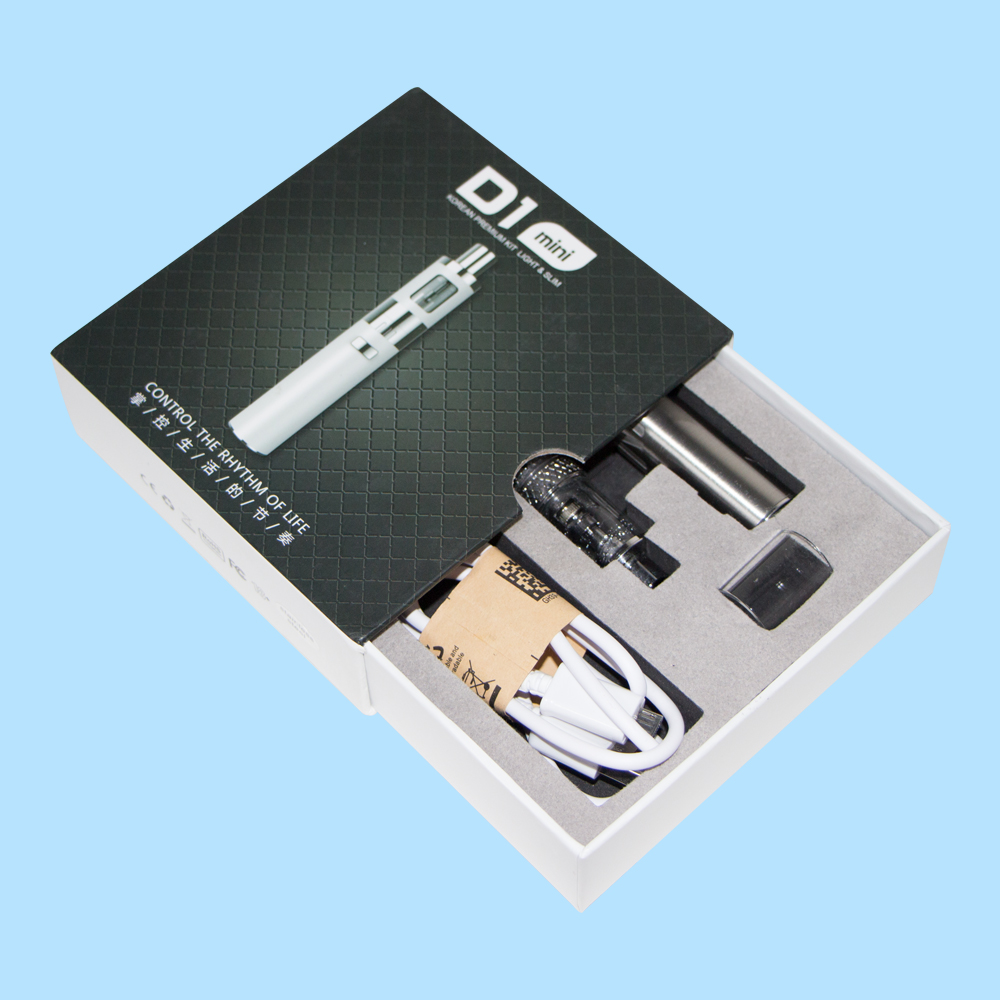 The super hardboard electronic cigarette packaging box with EVA inside