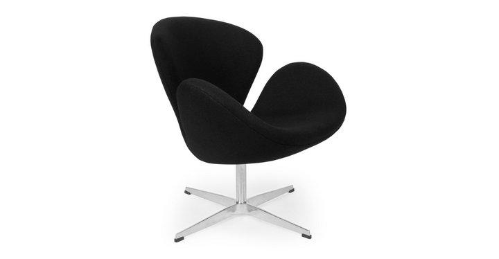 Comfortabele moderne swivel lounge stoel stof leisure zwaan stoel