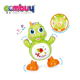 Hot selling battery operated plastic dancing electric musical turtle light toy