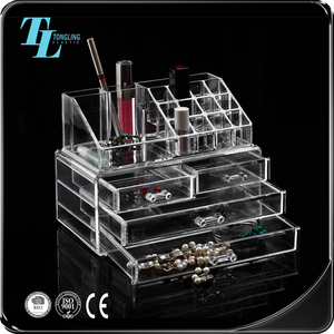 Top supplier custom plastic clear acrylic cosmetic organizer