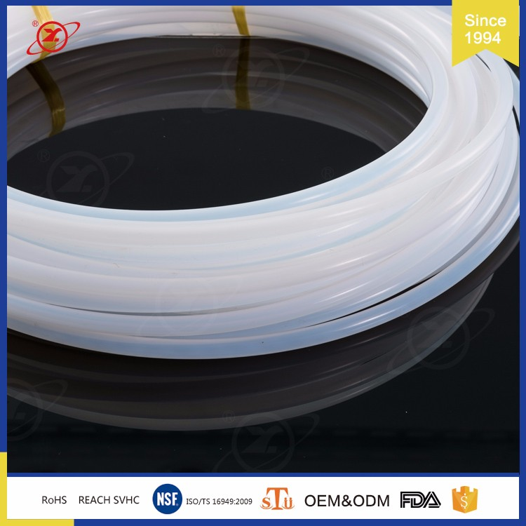 HY-001 Pure extruded ptfe tubing with white flexible clear teflon hose