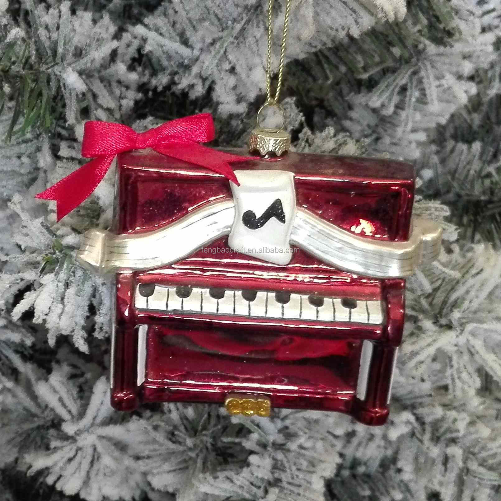 2017 Most Popular Music Instruments Christmas Pendant custom made christmas ornaments manufactured in China