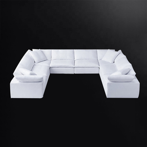Special Hot Selling Luxury Classic Home Furniture 6 Seater Rattan Corner Sofa Set With Footrest