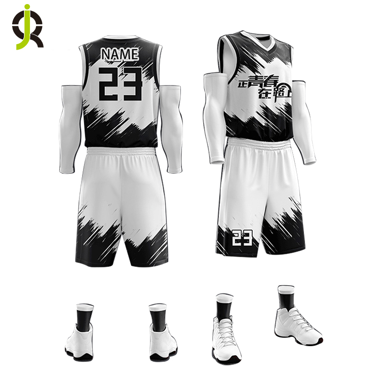 Großhandel Neueste Custom College Günstige Basketball Kleidung Set Sublimation Druck Reversible Basketball Jersey Uniform Design