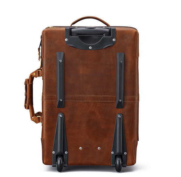 Carry On Genuine Leather Trolley Bag Luggage - Buy Leather Trolley ...