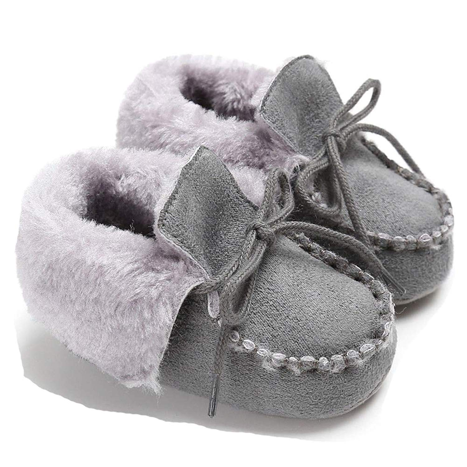 6e8f6df3555 Get Quotations · Infant Baby Boys Girls Soft Warm Winter Snow Boots  Prewalker Sole Crib Shoes
