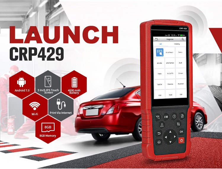 Universal all system scanner Launch X431 CRP429 updated CRP429C auto diagnostic tool launch diagnostic machine