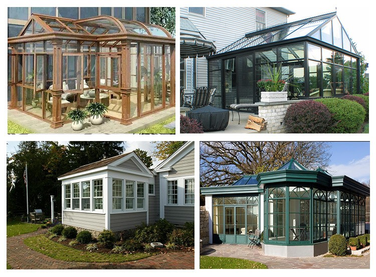 Aluminium free standing sun rooms prefabricated glass for Prefabricated garden rooms