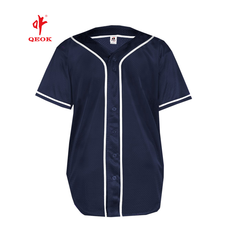 Fashion custom design blank mannen baseball jersey