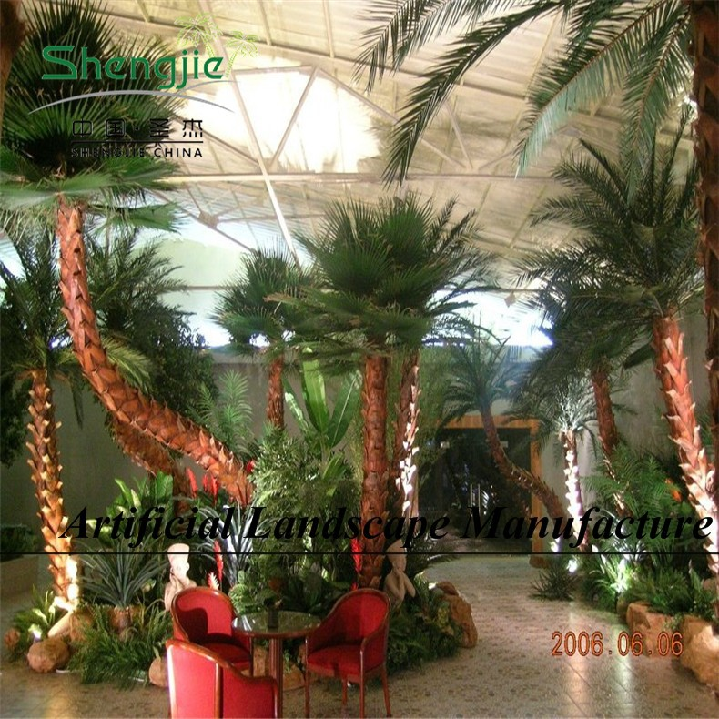 SJ Home garden deco 2m to 10m artificial outdoor large palm trees sale