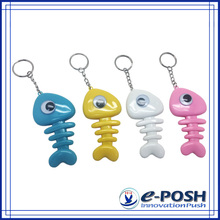 Fish bone style cute promotional advertising keyring pen