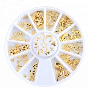 Nail Charms 3d Alloy Metal Starfish Decoration Nai Tips Metal Decoration With Wheel Box