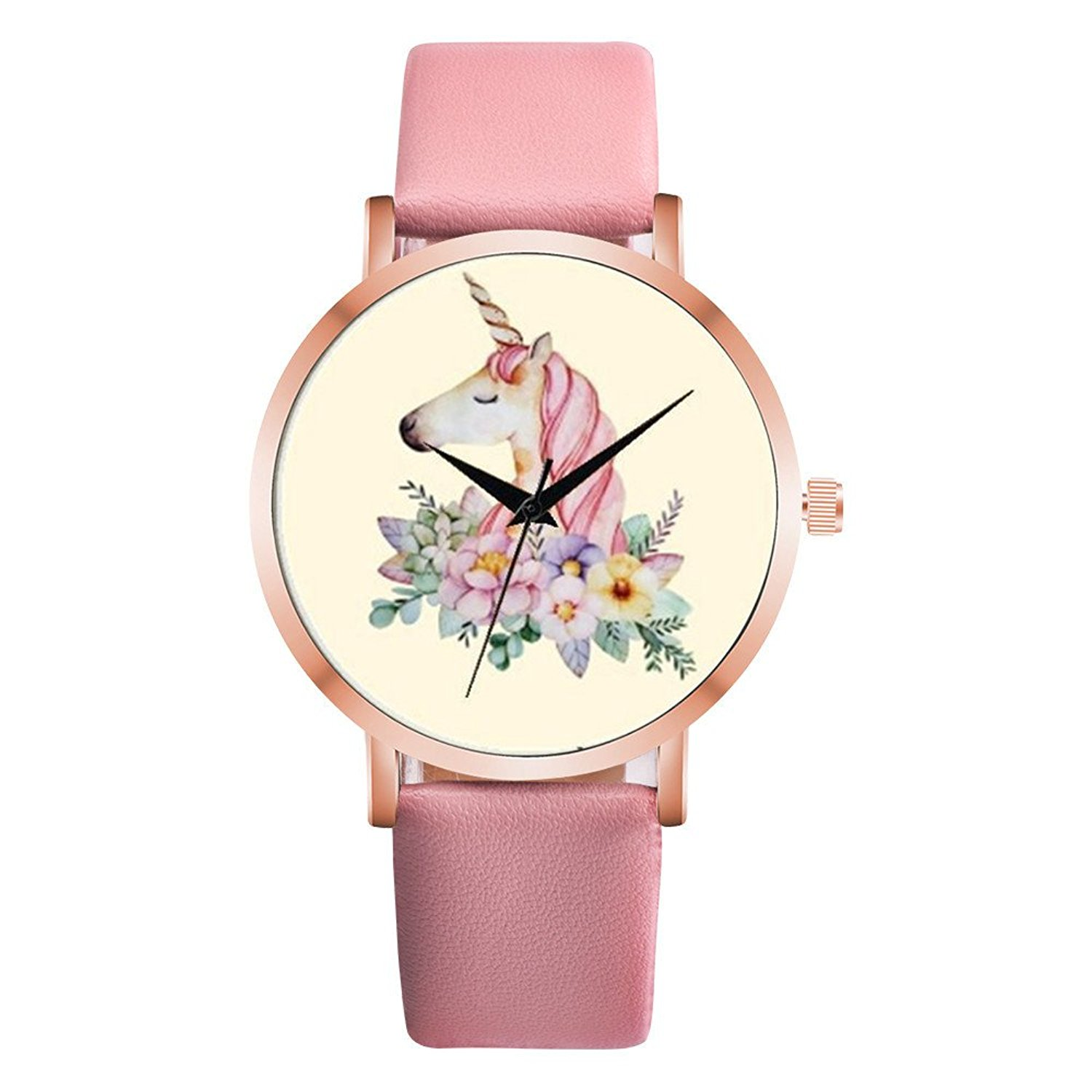 Watches For Women,POTO Quartz Womens Waches Clearance On Sales Fashion Cute Animal Wristwatch Womens Leather Band Analog Alloy Watch For Ladies Teens Girls