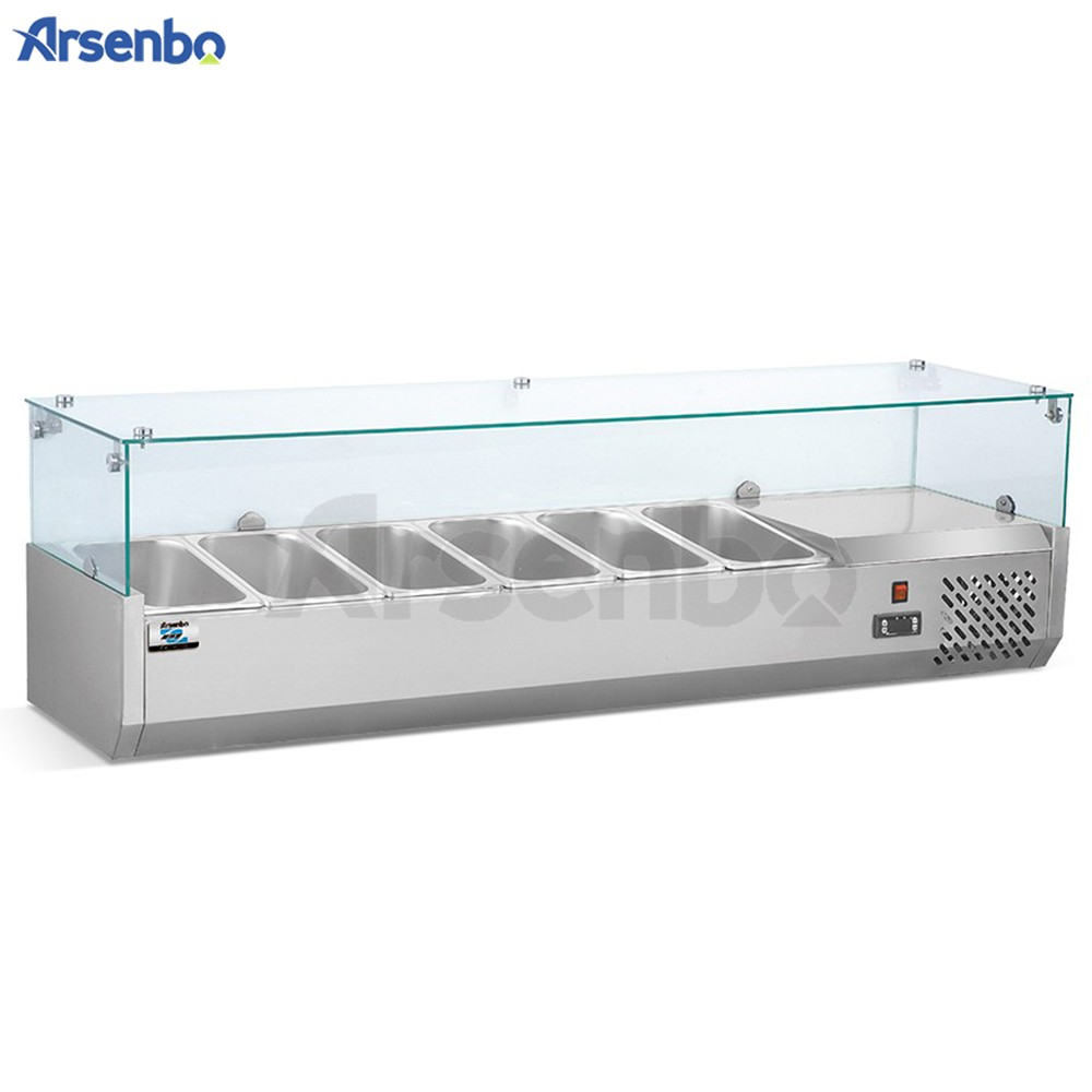 Commercial Stainless Steel Refrigerated Counter Top Salad ...