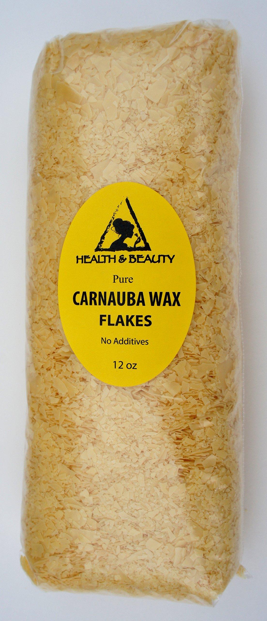 Carnauba Wax Organic Flakes Brazil Pastilles Beards Premium Prime Grade A 100% Pure 12 oz