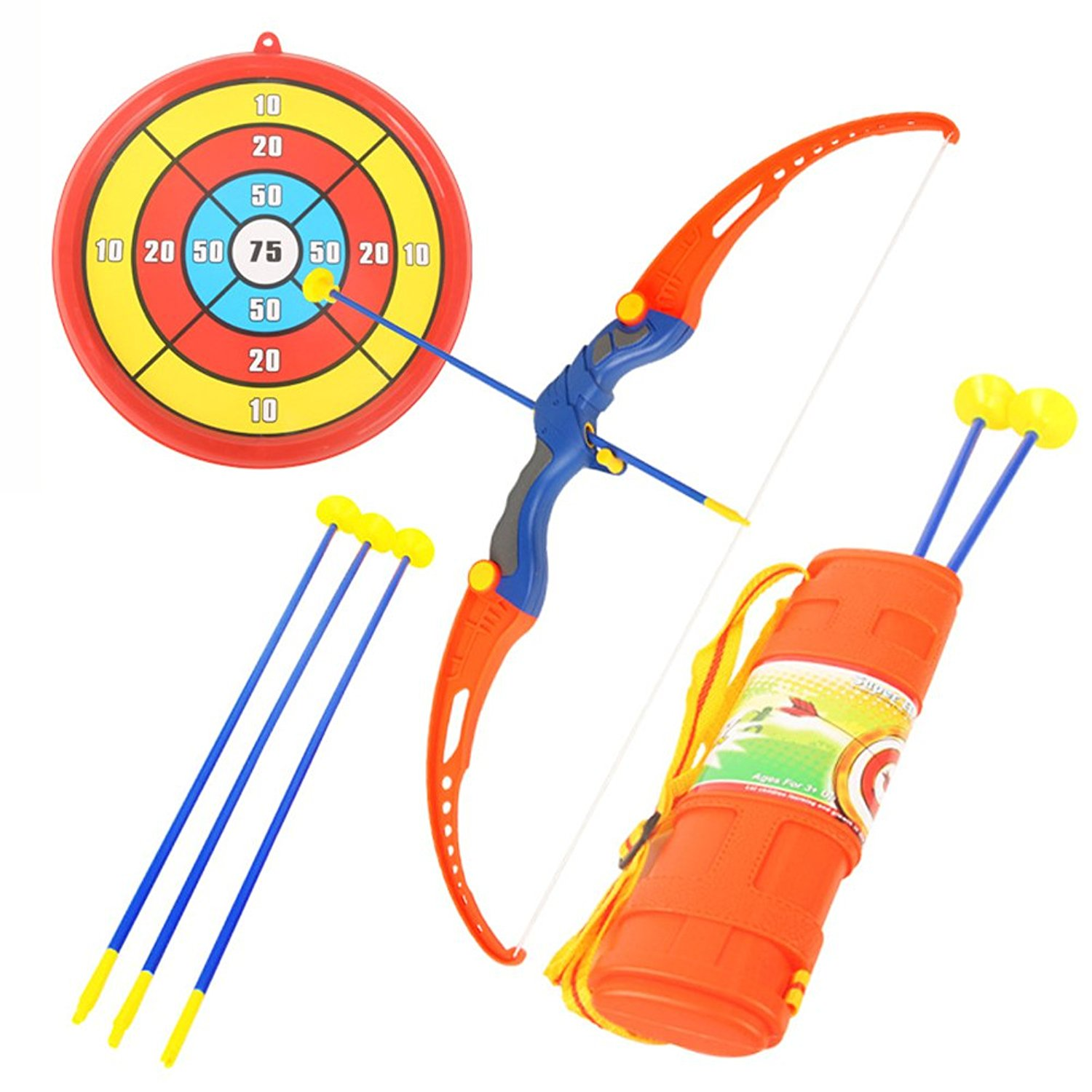 Buy vintage kids fun time target shooting dime store game toy on fun toy archery shooting set for kids with bow 3 suction cups target quiver m4hsunfo