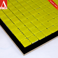 china mosaic factory supply Fluorescent yellow crystal glass tiles mosaic