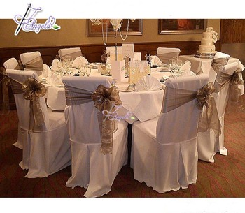 Wholesale Wedding Chair Cover With Sashes premium wedding linens for reception From China