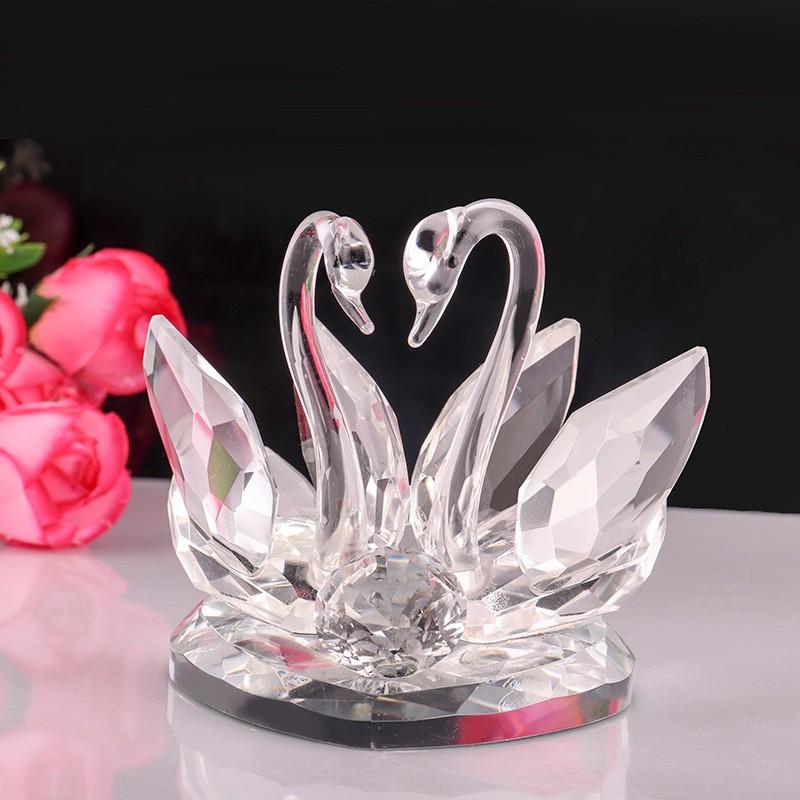 Swan Wedding Gift Return: Crystal Glass Wedding Return Gift Guests Favors Home