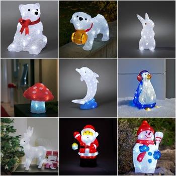led acrylic christmas led 3d animals figures for tabletop christmas decoration - 3d Acrylic Christmas Decorations