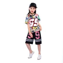 9350befb7da78 Colorido unisex mejor niños hip hop rapper traje