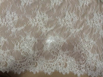 Tende In Pizzo Chantilly.Francese Pizzo Con Perline Francia Pizzo Pizzo Chantilly Tessuto