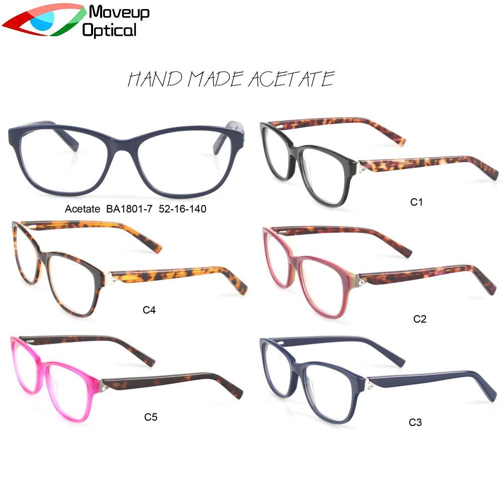 Moveup óptico clásico Marco de acetato de cristal gafas de lectura ...
