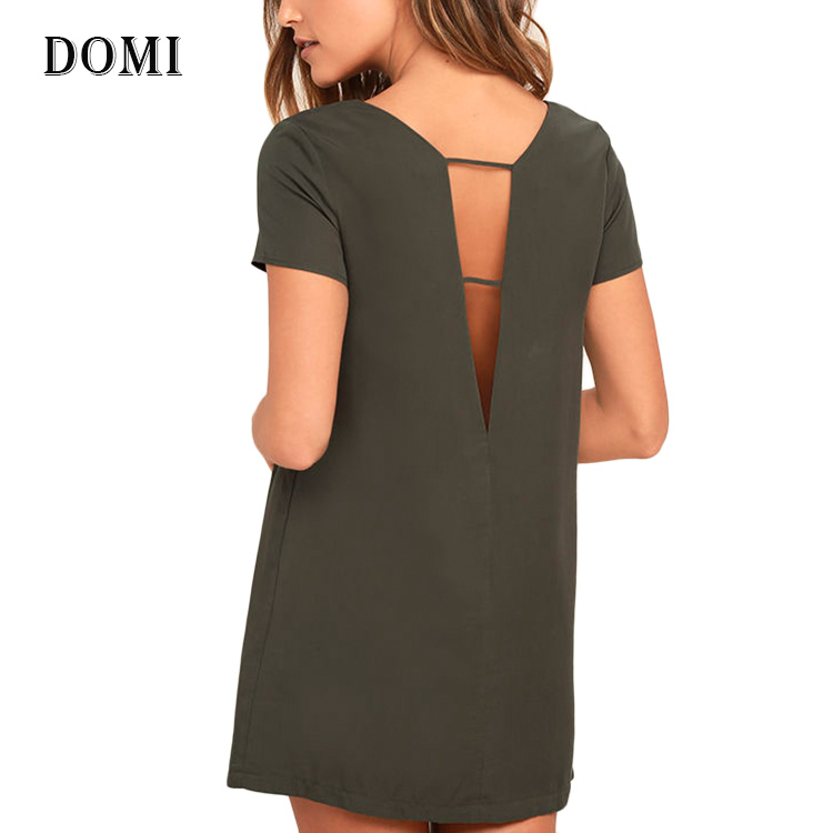 WOMEN FASHION CLOTHING SHIFT DRESS CASUAL SHORT SLEEVE NEW YORK DRESSES