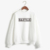 Simple design monogram printing custom tech fleece oem sweatshirt women