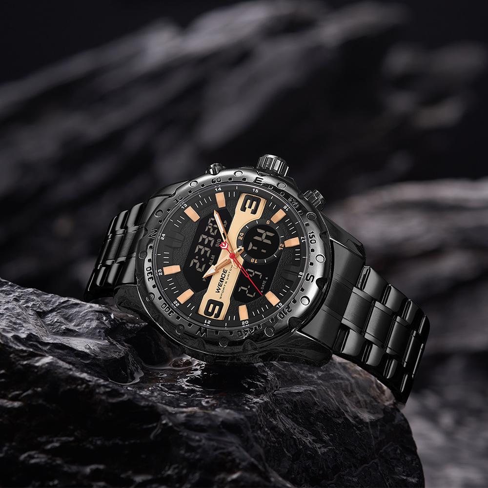 منتجات وصلت حديثًا للبيع بالجملة ساعة يد كوارتز يابانية مزودة بحزام من الستانليس ستيل