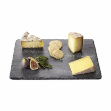 Natural black Stone Dinner plate slate cheese serving board party tableware dinnerware dessert tableware black slate plate