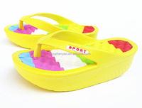 eva summer rainbow slippers wedge heel wholesale flip flops