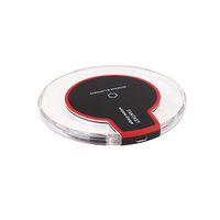 Portable rechargeable Qi wireless charger High quality Ultra Slim Fast Wireless Charger for mobile phone