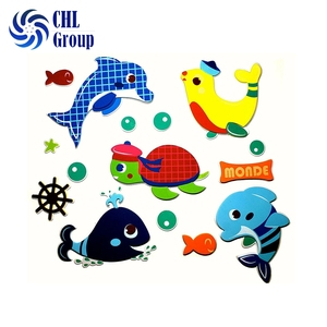Hot sell custom certified DIY eva foam animal stickers for kids