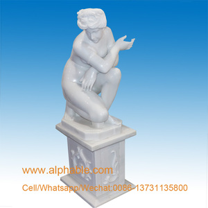 Highly Polished Famous Female Statues Nude Woman Stone Marble Sculpture