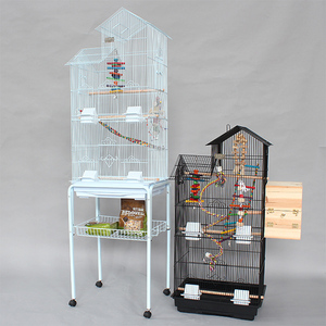 Budgie Cage Bird Parrot Parakeet Cockatiel Colorful Wrought Iron Birds Cages A08