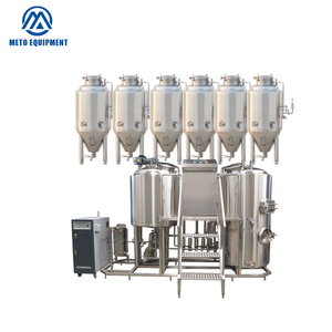 100L 200L electric 2 vessels brewery equipment for mini homebrewery machine in handmade beer making system