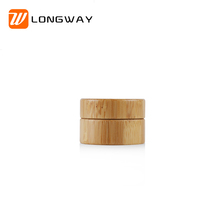 3g round shape empty bamboo cream jar lid wooden cosmetic jar Suppliers