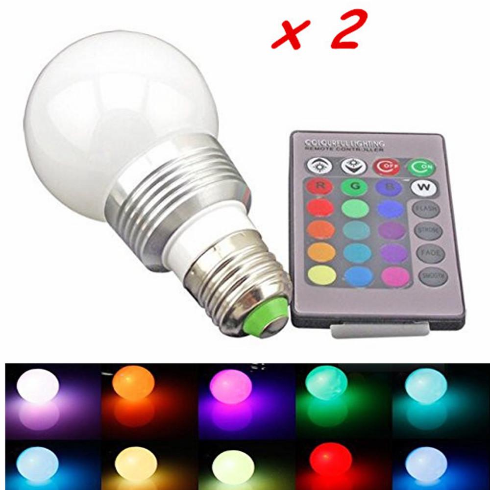 ... RGB LED Bulb 85 265V 3W E27 RGB LED Lamp Bulb 24 Key IR