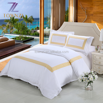 Townzi 5 Star Hotel 100 Egyptian Cotton Bedding Set White Ed Bed Sheet