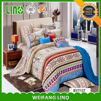 European 100% combed cotton bedding set/floral applique duvet cover/king duvet covers sale