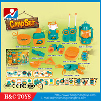 Popular outdoor kid toy plastic kids camping play set camping toy HC315787