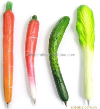 promotional artificial fruit vegetable ballpoint pen plastic pen
