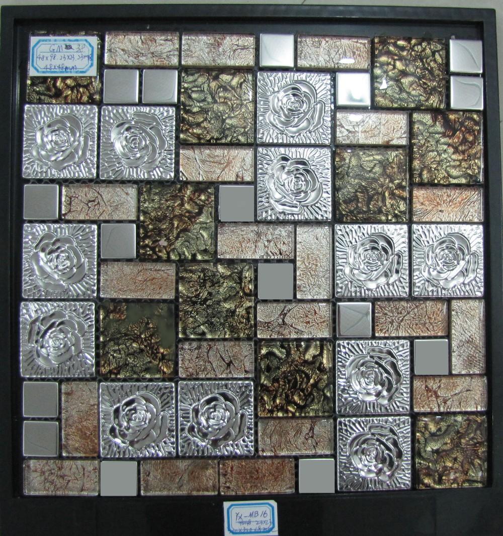 Hot Sale Mix Colour Of Metal Mosaic Tile Decorative Wall - Buy Mix ...