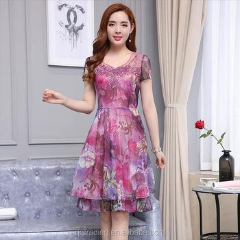 ba28eda49 Adulto de poliéster barato vestido longo de chiffon novo estilo elegante mulheres  vestidos