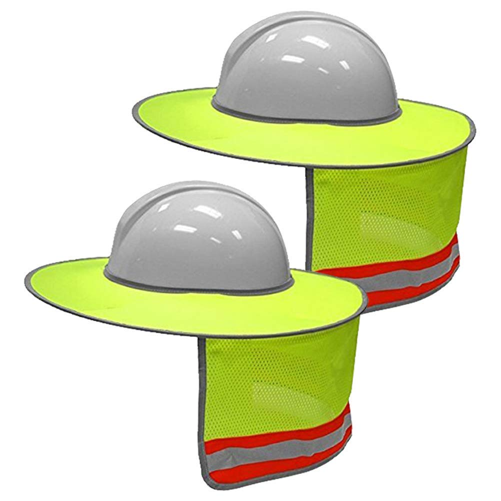 81cc7ff0412ce Get Quotations · 2 Pack Hard Hat Sun Shield